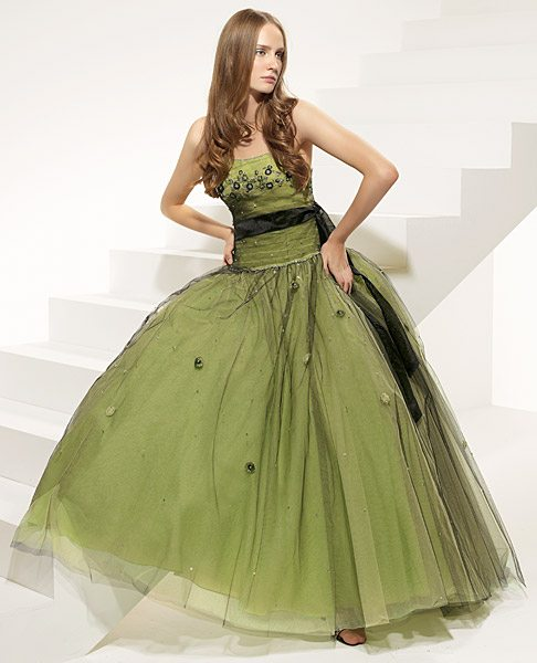 prom dress, Green dress, evening dress