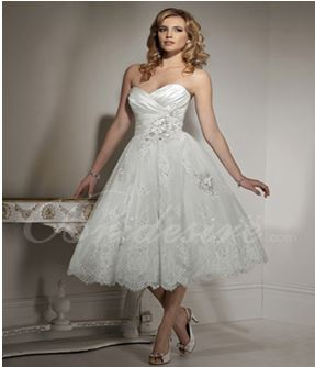 i picked this dress for her as a possible wedding gown because of the more appropriate cut on the chest area which will likely show her cleavage to provide