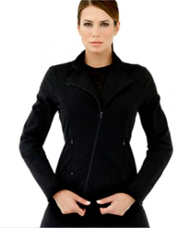 Fab Traveler in a Cher Bike Jacket from Anatomie