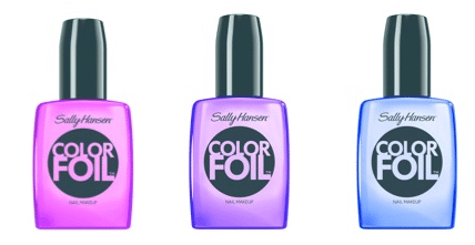 GET A METALLIC DIPPED MANICURE WITH  THE NEW SALLY HANSEN® COLORFOIL™ NAIL MAKEUP COLLECTION