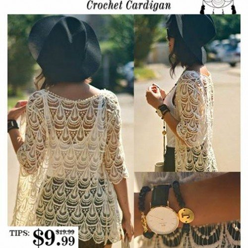 Romwe Crochet Cardigan Giveaway – CLOSED