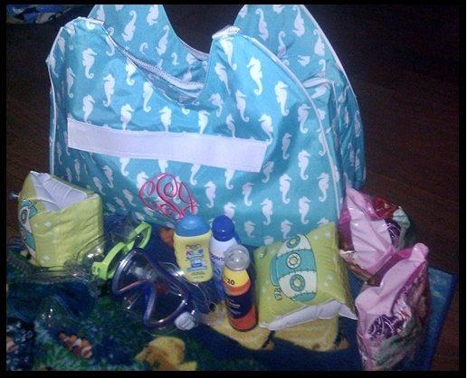double b beach bag 1