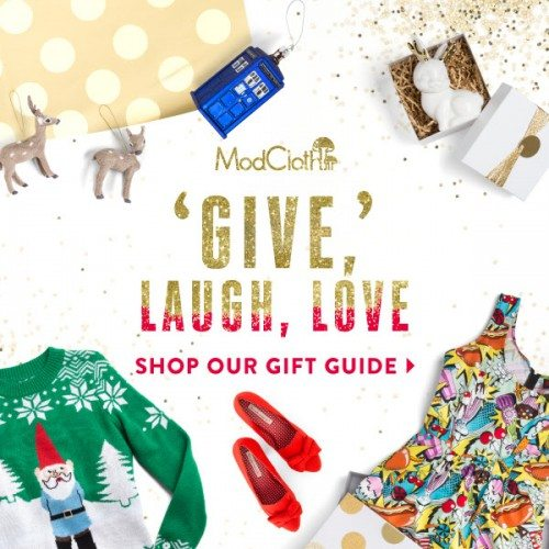 ModCloth Gift Guide! #Holiday