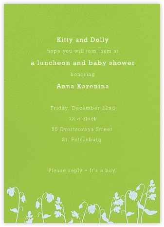 A Touch of Green for Your Baby Shower Invitation